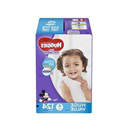 HUGGIES LITTLE MOVERS Diapers, Size 4 , 124 Ct. , Baby Diape