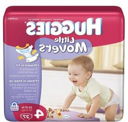 Huggies Little Movers Diapers, Size 4 - 27 Count, 4 Pack