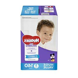 HUGGIES LITTLE MOVERS Diapers, Size 3 , 140 Ct., HUGE PACK ,