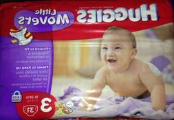 Huggies Little Movers Diapers, Size 3, 16-28 lb, 31 Count