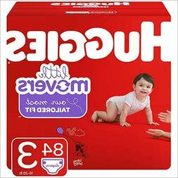 HUGGIES LITTLE MOVERS Diapers  size 3  84 Count