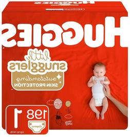 Huggies Little Snugglers Baby Diapers, Size 1 - 198 Count