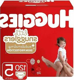 Huggies Little Snugglers Baby Diapers, Size 5, 120 Ct, One M