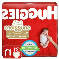 Huggies Little Snugglers Baby Diapers, Size Newborn Jumbo Pa