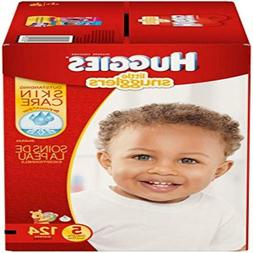 Huggies Little Snugglers Diapers - Size 5 - 124 ct ,Fast shi