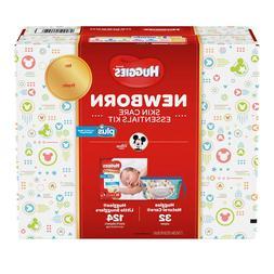 Huggies Plus Diapers Newborn Skin Care Essentials Kit,124-ct
