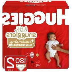 HUGGIES Little Snugglers Size 2 Baby Diapers Premium Softnes