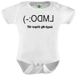 LMDO Laugh My Diaper Off ORGANIC Cotton Romper Baby Shower G