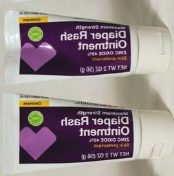 Lot of 2 NEW Diaper Skin Rash Ointment 2 oz each Zinc Oxide