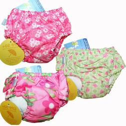 Lot of 3 iPlay Baby Girl Reusable Swim Diapers Size 6 Months