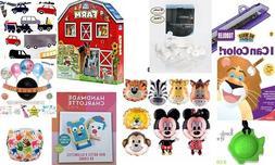 Lot of Childrens Items Books Diapers Balloons Party Supplies