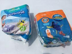 lot splashers size large and huggies little