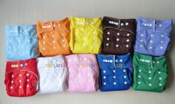 LOTS 10pcs+OB10 INSERTS Adjustable Reusable Washable Baby Cl