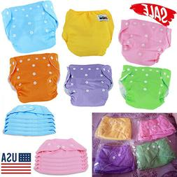 Lots 5pcs Baby Diapers Adjustable Reusable Washable Cloth Po