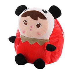Lovely Panda Dolls Toddler Backpack Infant Villus Knapsack C