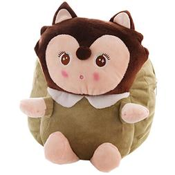 Lovely Fox Dolls Toddler Backpack Infant Villus Knapsack Cut