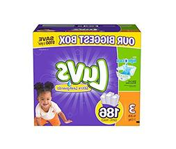 luvs diapers size 3, 186 count