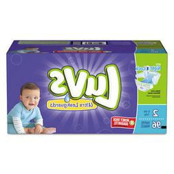 Luvs Diapers w/Leakguard, Size 2: 12 to 18 lbs, 96/Carton -
