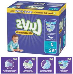 Luvs Disposable Diapers, Size 2  - 192 count, Wet Lock Overn