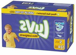 Luvs Ultra Leakguards Diapers Size 5 - 124 count Even Overni