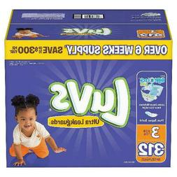 Luvs Ultra Leakguards Diapers Size Size 3 - 312 ct. - Bulk Q
