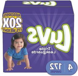 Luvs Ultra Leakguards Disposable Baby Diapers, Size 4,172Cou