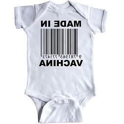 inktastic - Made In Vachina Funny Infant Creeper Newborn Whi