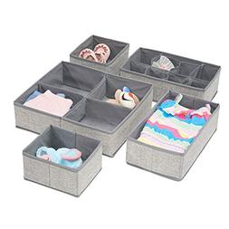 mDesign Drawer Organizers Fabric Baby Nursery Closet Organiz