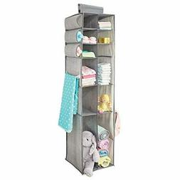 mDesign Long Soft Fabric Over Closet Rod Hanging Storage Org