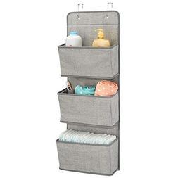 mDesign Soft Fabric Wall Mount/Over Door Hanging Storage Org