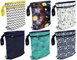 Planet Wise Medium Reusable Wet & Dry Cloth Diaper Bag Trave