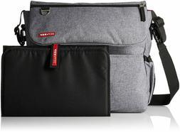 Infant Skip Hop 'Dash Signature' Messenger Diaper Bag - Grey