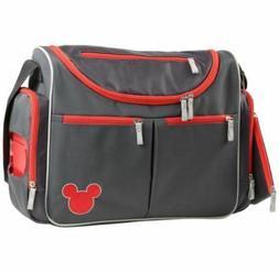 Disney Mickey Mouse Five Piece Diaper Bag Set, Grey