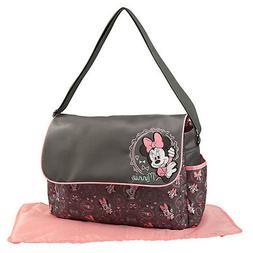 Disney Minnie Mouse Baby Girl Diaper Bag w Flap Love Bows Pr