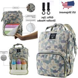 LEQUEEN Mom Baby Diaper Bag Waterproof Elegant Backpack Mult