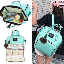 Mom Casual High Capacity Backpack Solid Color Mommy Maternit