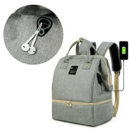 Baby Diaper Backpack Nappy Bag w/USB Charging Port Travel Ou
