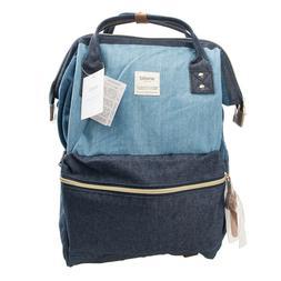 Multi Blue Anello Japan Unisex Fashion Backpack Rucksack Dia