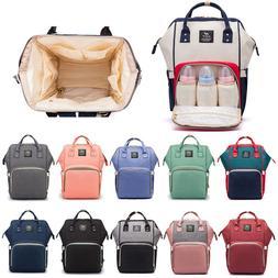 Mummy Baby Diaper Bag Maternity Nappy Backpack Bottle Warmer