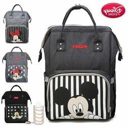 Disney Mummy Diaper Bag Mickey Mouse Backpack Maternity Napp