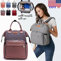 LEQUEEN Mummy Maternity Nappy Diaper Bag  Baby Travel Backpa