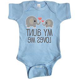 inktastic - My Aunt Loves Me Gift Infant Creeper Newborn Bab