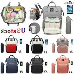 LEQUEEN Nappy Diaper Bag Mummy Nursing Baby Care Backpack Wi