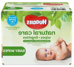 HUGGIES Natural Care Baby Wipes, Unscented for Sensitive Ski