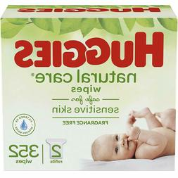HUGGIES Natural Care Unscented Baby Wipes, Sensitive 2 Refil