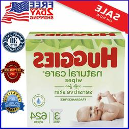 HUGGIES Natural Care Unscented Baby Wipes Sensitive, 3 Packs