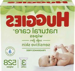 HUGGIES Natural Care Unscented Baby Wipes, Sensitive, 3 Refi