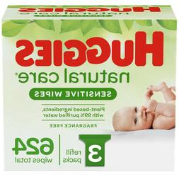 Huggies Natural Care Unscented Baby Wipes Sensitive 3 Refill