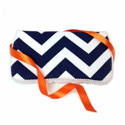 Navy Blue Chevron Baby Travel Wipes Case Best Unisex Baby Sh
