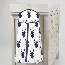 Carousel Designs Navy Deer Woodland Diaper Stacker